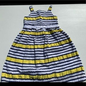 Janie and Jack Girls navy and yellow summer dress